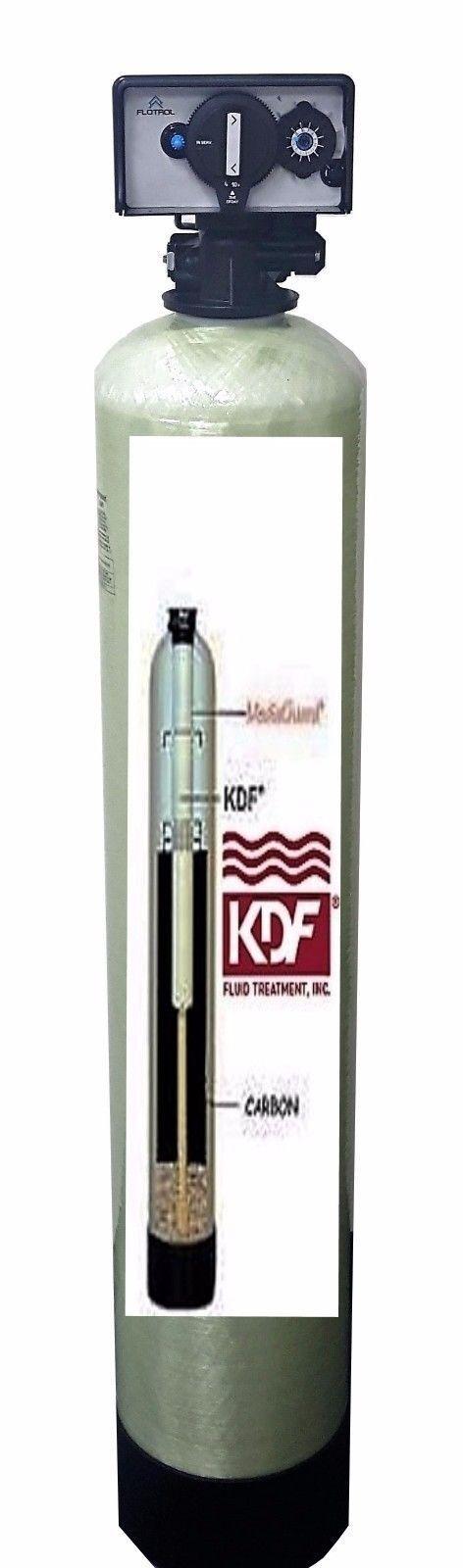 Maison tout entière Filtres à Eau Systèmes KDF85 Catalytique Carbone Fer Sulfure d'hydrogène
