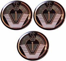 """Stargate SG-1 TV Series Group 1 Logo 1 1/4"""" Wide Enamel Pin Set of 3 Pins"""