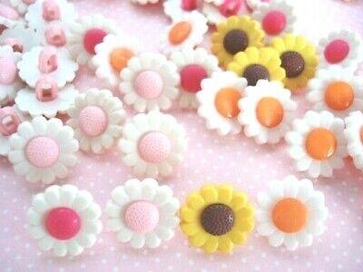 20 Cute Daisy Flower Plastic Sewing Kids Button//Craft//Trim//Dress//Girl Sb71-Blue