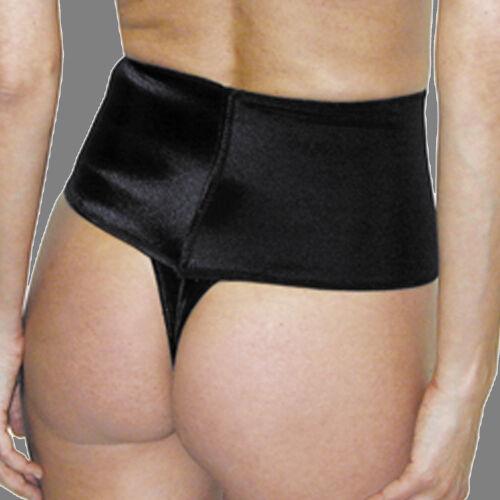 d1ee510c9aa07 3 of 6 Rago Shapewear Soft Control Wide Band Black Thong Shaper Size 34 2XL