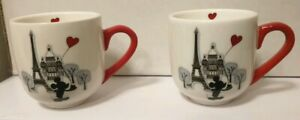 Tasses-a-Cafe-Coffee-Cups-X2-PARIS-MON-AMOUR-My-Love-Disneyland-Paris