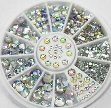 5 Size Mixed Lot Glitter Rhinestones 3D Nail Art Tips Decor Acrylic Gem Manicure