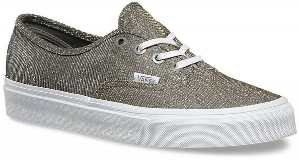 Vans AUTHENTIC Free Damenschuhe Schuhes NEW Glitter Textile GREY Weiß Free AUTHENTIC Shipping SIZE 5 fe51cb