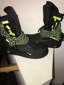 Nike SF Air Force 1 HI SZ 10 Black Volt