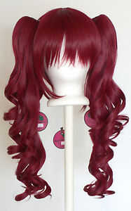 23-039-039-Curly-Pig-Tails-Base-Burgundy-Red-Cosplay-Wig-NEW
