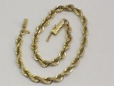 14kt Yellow Gold Rope Bracelet. 7