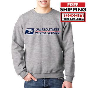 USPS POSTAL SPORT GREY CREW NECK Sweatshirt Logo Chest United States Service US