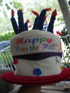Image Is Loading Happy Birthday Over The Hill Hat With