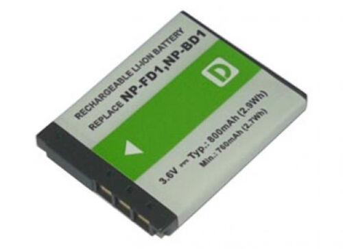 Batería 800mah para Sony Cyber-shot dsc-t77 dsc-t90 dsc-t900 dsc-tx1 series