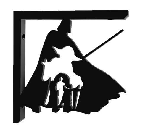 Bracket Vader Yoda R2D2 C3PO Shelf Bookshelf Decoration 100mm 10cm Black