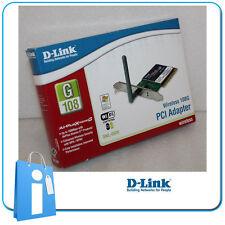 Card Net PCI Wifi Wireless 108Mb D-LINK DWL-G520 + low profile sides low