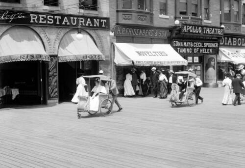 "NJ Old Photo 13/"" x 19/"" Reprint Atlantic City 1905-1920 Rolling Chairs"