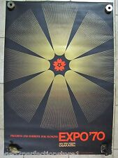 Orig 1970 Japan Expo Advertising Art Poster 'Progress and Harmony for Mankind'