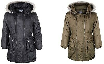 Girls Parka Coat Shower Jacket Ages 7-13