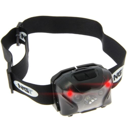 2 NGT XPR CREE LIGHT 140 LUMEN RECHARGEABLE HEAD LAMP TORCH CASE FISHING HUNTING
