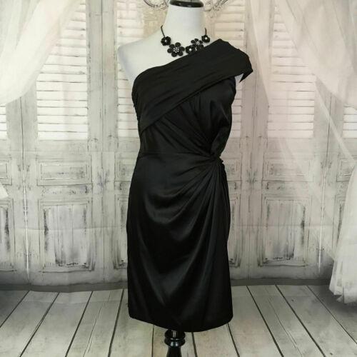 Adrianna Papell Size 6 Little Black Dress Satin Fo