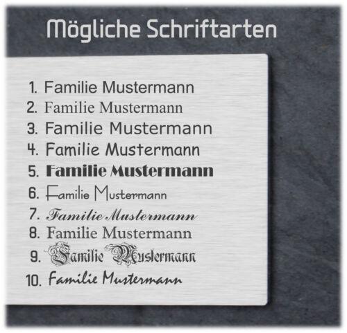 Gravur Klingel Türklingel Klingelplatte V2A inkl cd