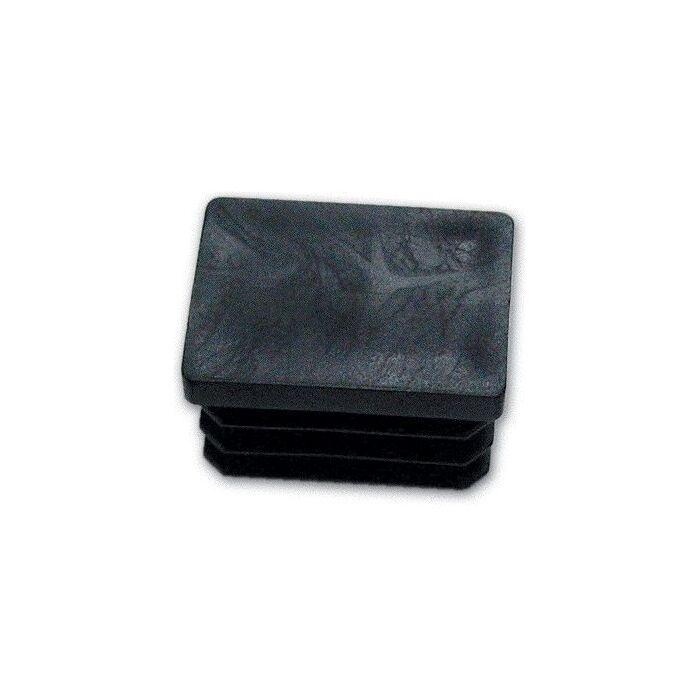 Gommino Interno Rettangolare 40X80 mm (Puntale) colore Nero Conf. 100 Pz