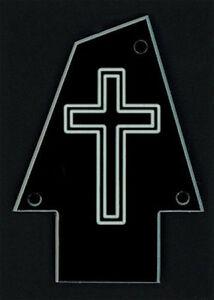 GUITAR-TRUSS-ROD-COVER-Custom-Engraved-Fits-IBANEZ-CROSS-Black