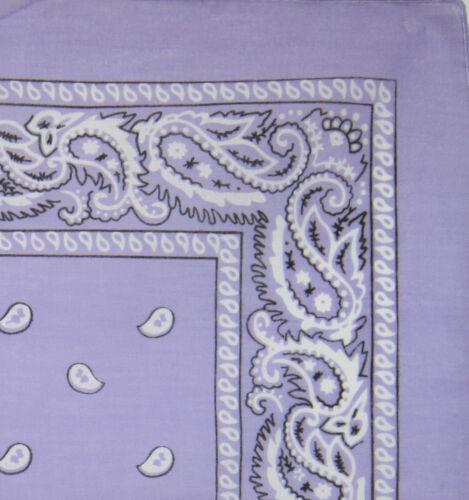 Lilac Lavender Bandanna Neck Head Scarf Biker Steamer Gipsy Paisley Design