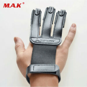 Cow Leather Archery Finger Guard Protection Pad Glove Tab Bow Shooting