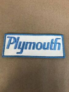 Vtg-Plymouth-Embroidered-Sew-On-Patch-5-Dodge-Mopar-Auto-Racing-Badge-Hot-Rod