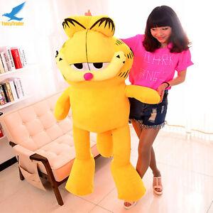 Giant Garfield Cat Toy Stuffed Doll Push Soft Toy Cushion Doll Birthday Kid Gift Ebay