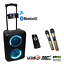 thumbnail 2 - ABRATO S-2802 + DAC (S-TV) BLUETOOTH KARAOKE POWERED SPEAKER + 2 WIRELESS MIC'S