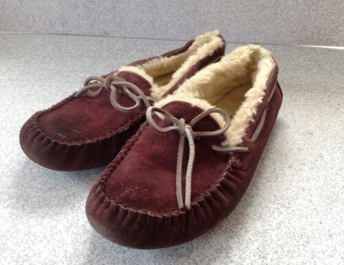 8 Slipper Shoes Suede Ugg Dark Sheepskin Dakota Taglia Mocassino Purple xtSzqISnwA
