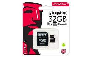 MICRO-SD-KINGSTON-32GB-CLASSE-10-CON-ADATTATORE-MEMORIA-TRANS-FLASH-SDCS-32