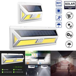180LED-Solaire-Lampe-Lumiere-3-Modes-PIR-Detecteur-de-Mouvement-Exterieur-Jardin