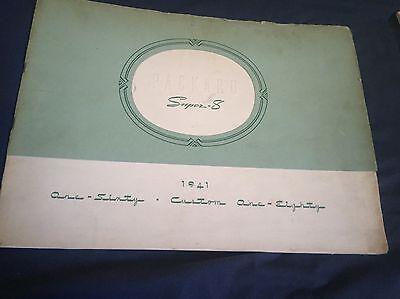 1941 PACKARD 160 CUSTOM 180 PRESTIGE CATALOG COLOR BROCHURE PROSPEKT