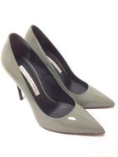 Gianmarco Lorenzi Muschio Green Leather Heels. P4D0A1101. Size 38. RRP £313.