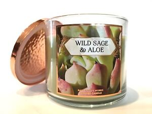 NEW-1-BATH-amp-BODY-WORKS-WILD-SAGE-amp-ALOE-3-WICK-14-5-SCENTED-LARGE-FILLED-CANDLE