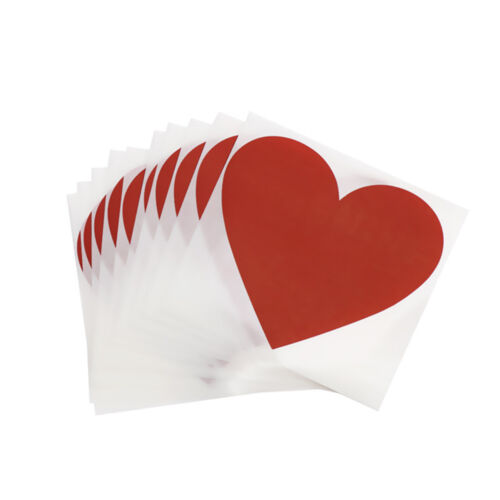 10 Pcs DIY Craft Scratch Coating Sticker Message Hidden Surprises Heart Shaped