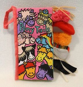 Little-Jellycat-Pony-Tails-Book-Fabric-Cloth-Plush-Sensory-Crinkle-Texture