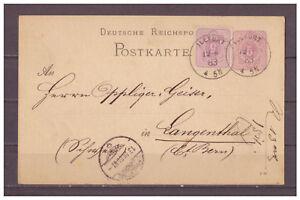 Deutsches-Reich-Ganzsache-P-12-ZuF-Illfurth-Elsass-nach-Langenthal-Schweiz-1883