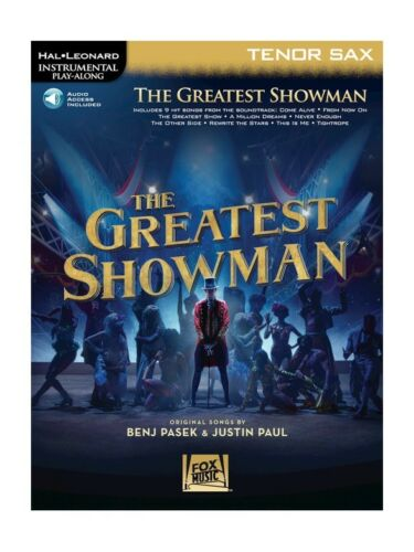 Play-Along The Greatest Showman Tenor Saxophone Play SAX MUSIC BOOK Online Audio