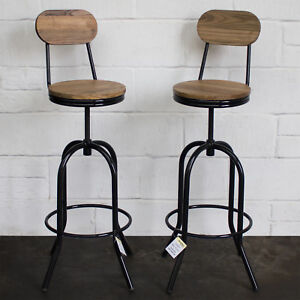 Astounding Details About Bar Stool Metal Wooden Industrial Rustic Vintage Style Seating Height Adjustable Pabps2019 Chair Design Images Pabps2019Com