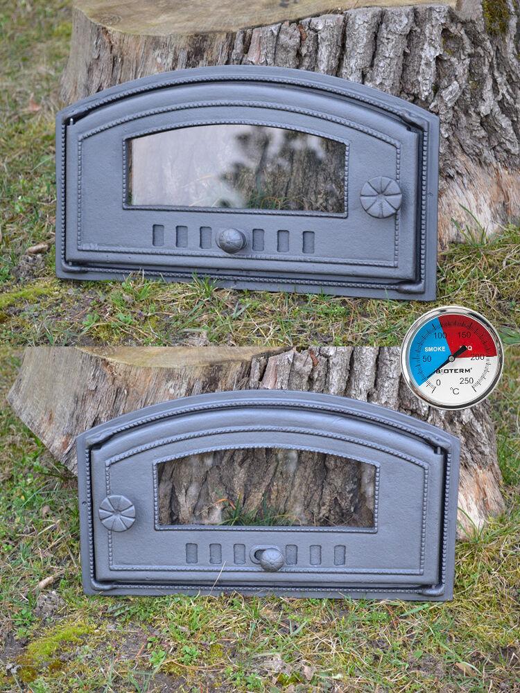 48 X 27 cm puerta de fuego hierro fundido horno de arcilla pan Casa De Humo Estufa de pizza al aire libre
