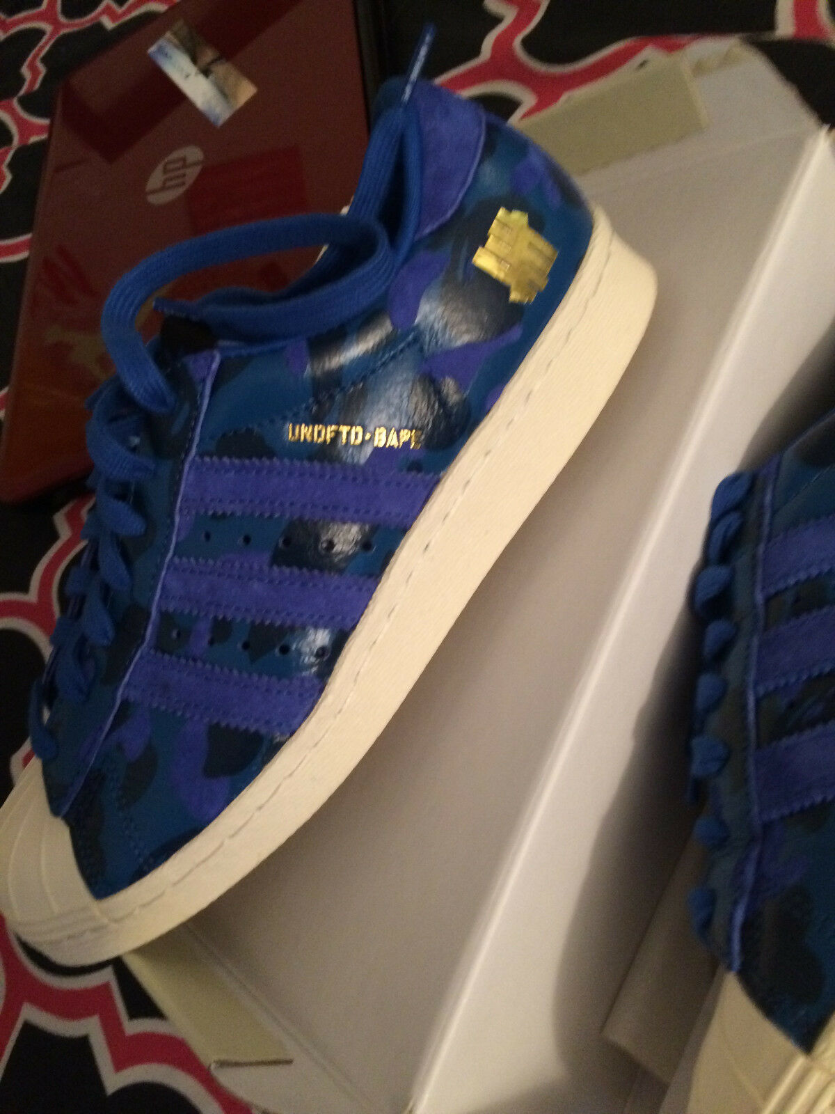 BAPE x UNDEFEATED X ADIDAS Superstar 80s Size 6