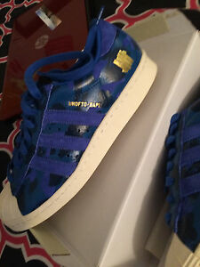 the latest 6f177 6c77e La foto se está cargando BAPE-X-UNDEFEATED-X-ADIDAS-Superstar-80s-Talla-