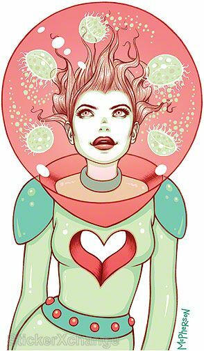Pink Sea Love Girl Sticker Decal Tara Mcpherson TM37