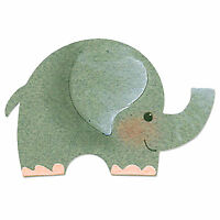 Sizzix Originals Yellow Die Elephant #2 655351 Craft Supplies