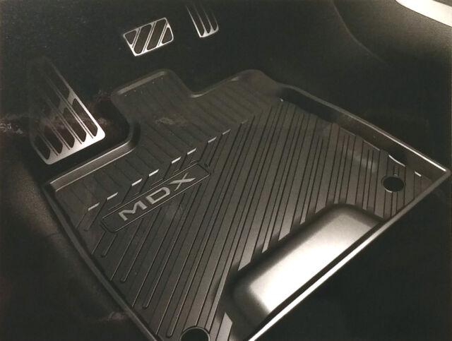 All Weather Floor Mats >> Genuine Acura Mdx All Season Floor Mats Rubber Weather Black Oe