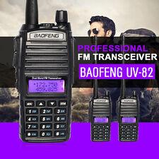 2PCS Baofeng UV82 Walkie Talkie Set Dual Band 2-Way Radio Ham UHF/VHF Long Range