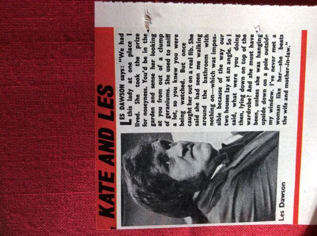 m2b ephemera 1973 small article les dawson