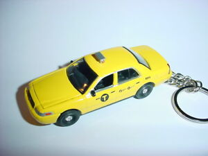 Details About 3d Ford Crown Vic Nyc Taxi Cab Custom Keychain Keyring Key Pos Hack Airport Ride