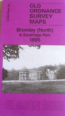 Old Ordnance Survey Maps Bromley North /& Sundridge Park London 1895 Godfrey Edit