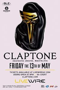 Details about CLAPTONE 2016 PHOENIX, ARIZONA CONCERT POSTER- German Techno  Music, EDM